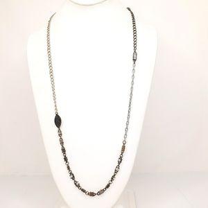 Jewel Kade Necklace Long Multi Metal Rhinestone